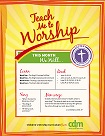 Close up view of Teach Me to Worship - Easter PDF Download