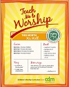 Close up view of Teach Me to Worship - Christmas Advent PDF Download