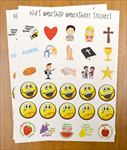 KID'S WORSHIP WKSHEET STICKERS REFILL 13 sheets
